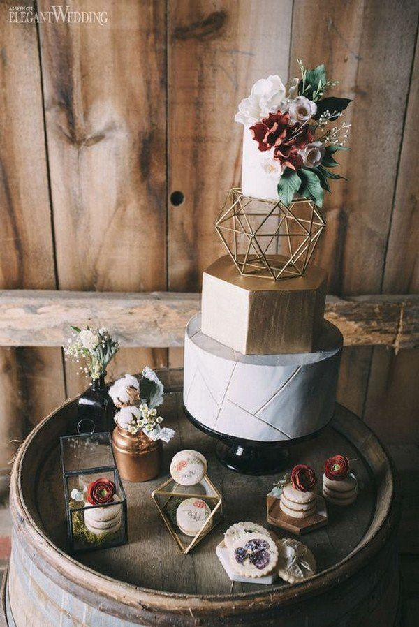 Wedding - 40  Chic Geometric Wedding Ideas For 2018 Trends - Page 5 Of 5