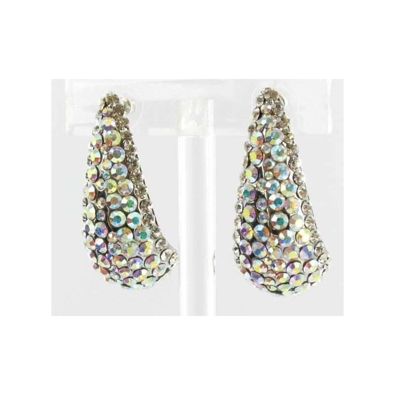 Wedding - Helens Heart Earrings JE-X002850-S-AB Helen's Heart Earrings - Rich Your Wedding Day