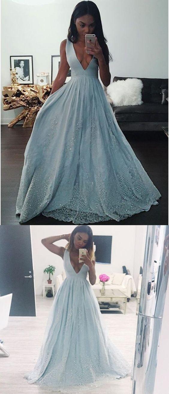 Hochzeit - Beautiful Prom Dresses A-line Short Train Lace Prom Dress/Evening Dress JKL447