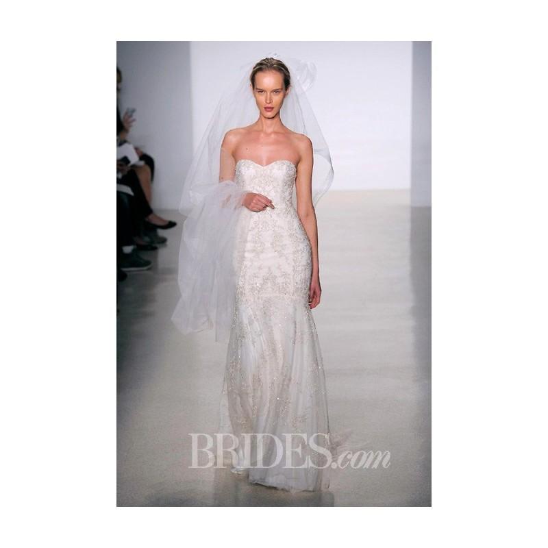 Mariage - Kenneth Pool - Fall 2014 - Strapless Beaded Mermaid Wedding Dress with Sweetheart Neckline - Stunning Cheap Wedding Dresses