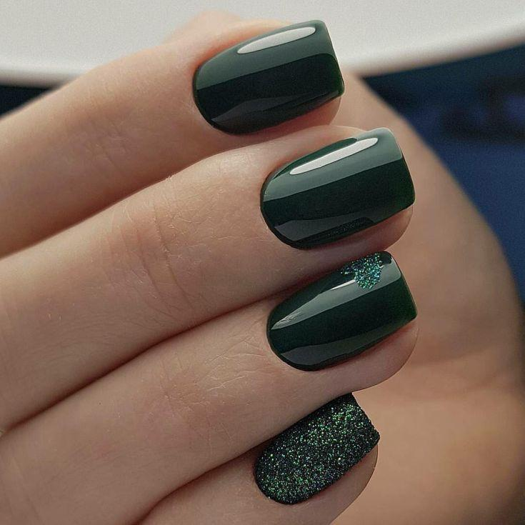 Свадьба - 50  Manicure Ideas Based Green Color 2018