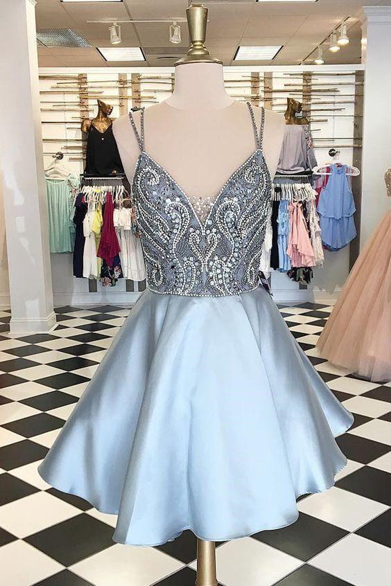 Beaded Short Homecoming Dress