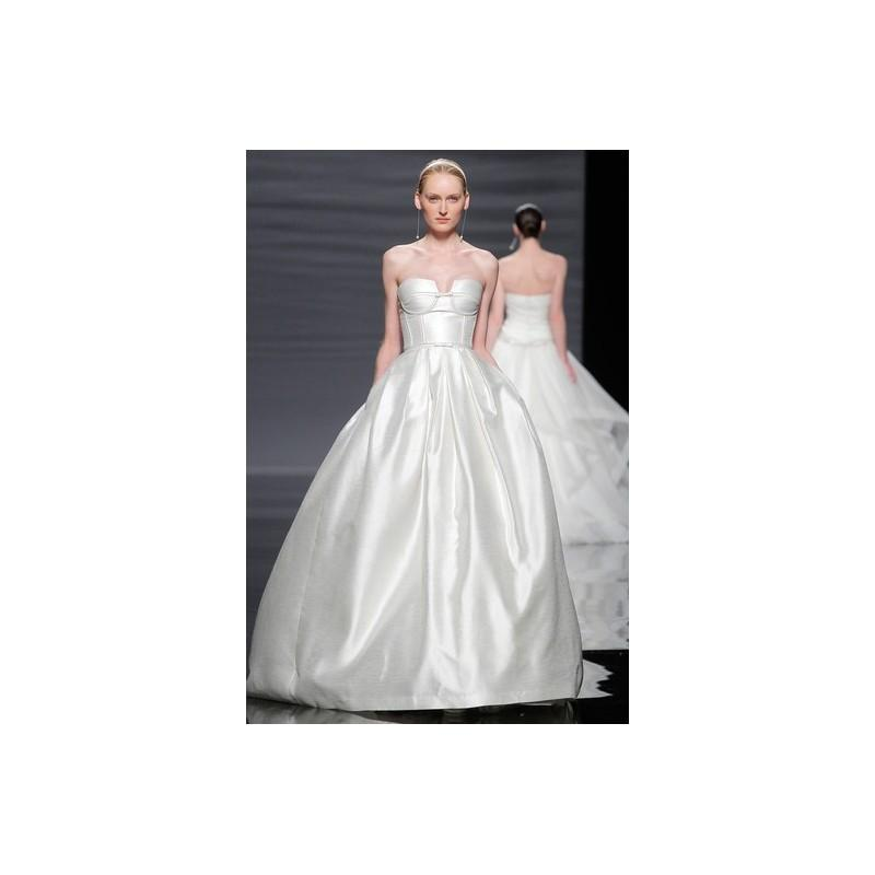 Wedding - Rosa Clara SP14 Dress 32 - Full Length Rosa Clara White Strapless Ball Gown Spring 2014 - Rolierosie One Wedding Store