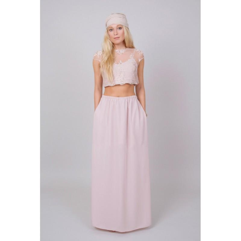 Jessa Maxi Set In Blush Bridesmaid Dress Prom Dress Formal Dress