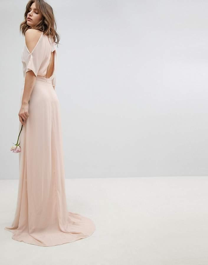 Mariage - TFNC High Neck Maxi Bridesmaid Dress With Fishtail