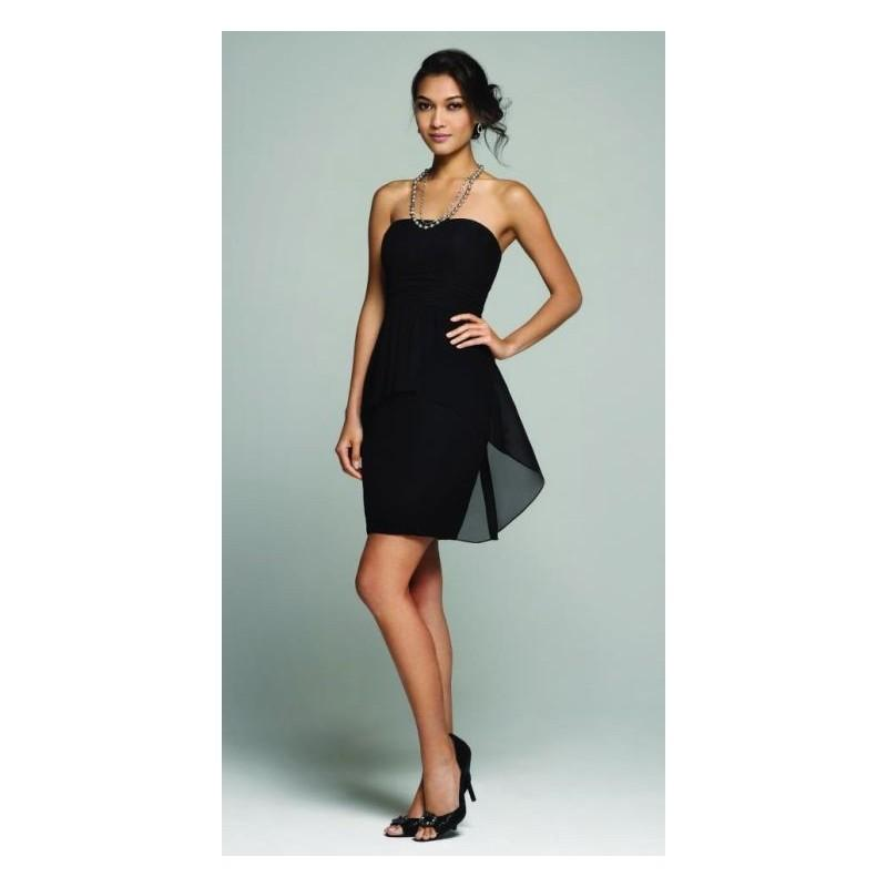 Свадьба - Alfred Angelo 7259 Cocktail Length Bridesmaid Dress - Brand Prom Dresses