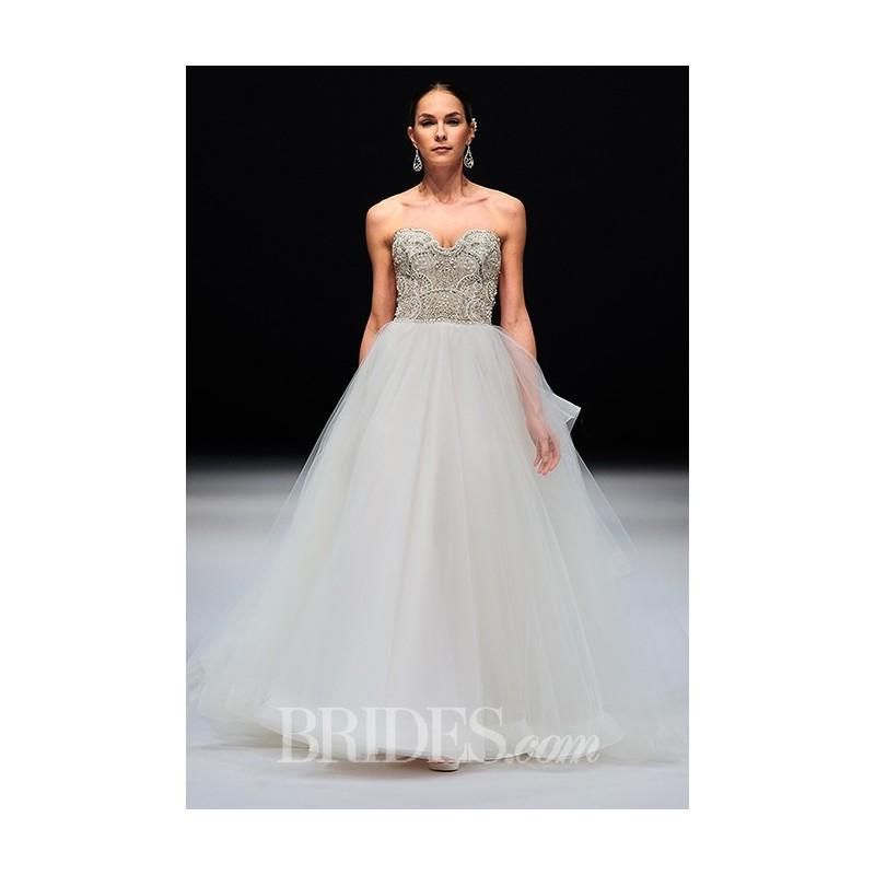 زفاف - Eve of Milady - Fall 2015 - Strapless Pearl Embellished A-line Wedding Dress - Stunning Cheap Wedding Dresses