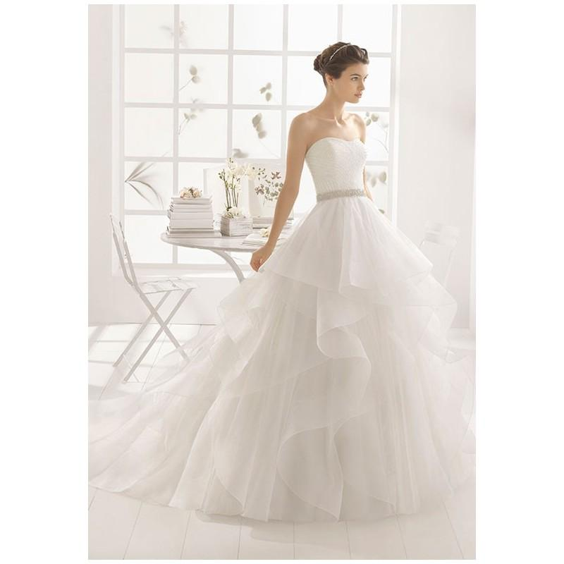 Wedding - Aire Barcelona MEDIT - Ball Gown Strapless Natural Floor Chapel Tulle Beading - Formal Bridesmaid Dresses 2018