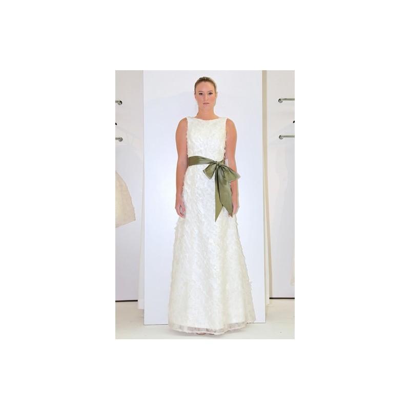 Wedding - Aria FW12 Dress 2 - High-Neck Full Length Aria A-Line White Fall 2012 - Rolierosie One Wedding Store