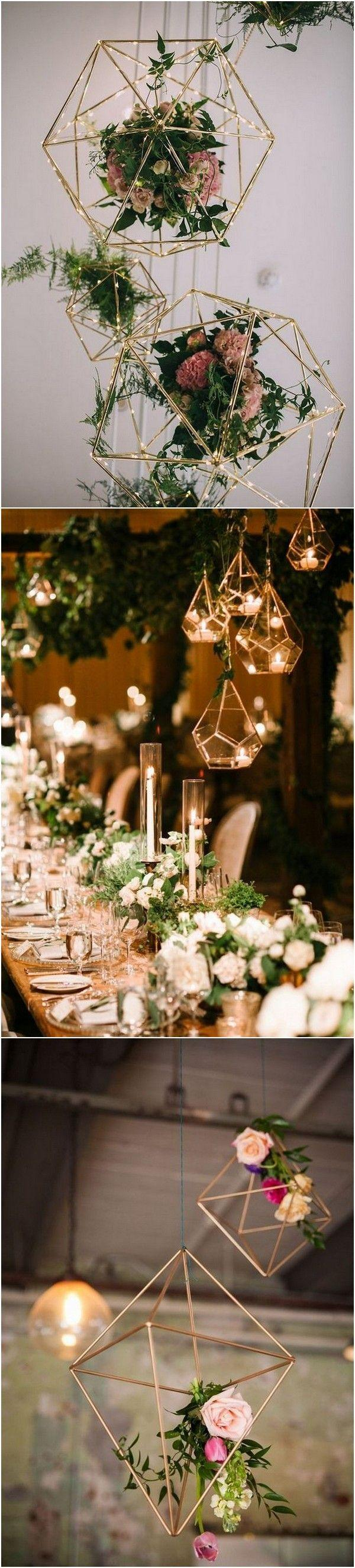 Wedding - 40  Chic Geometric Wedding Ideas For 2018 Trends - Page 6 Of 6
