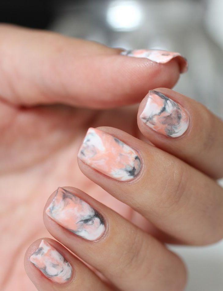 Mariage - Le Nail Art De La Semaine #7 : Le Marbre À Portée De Main