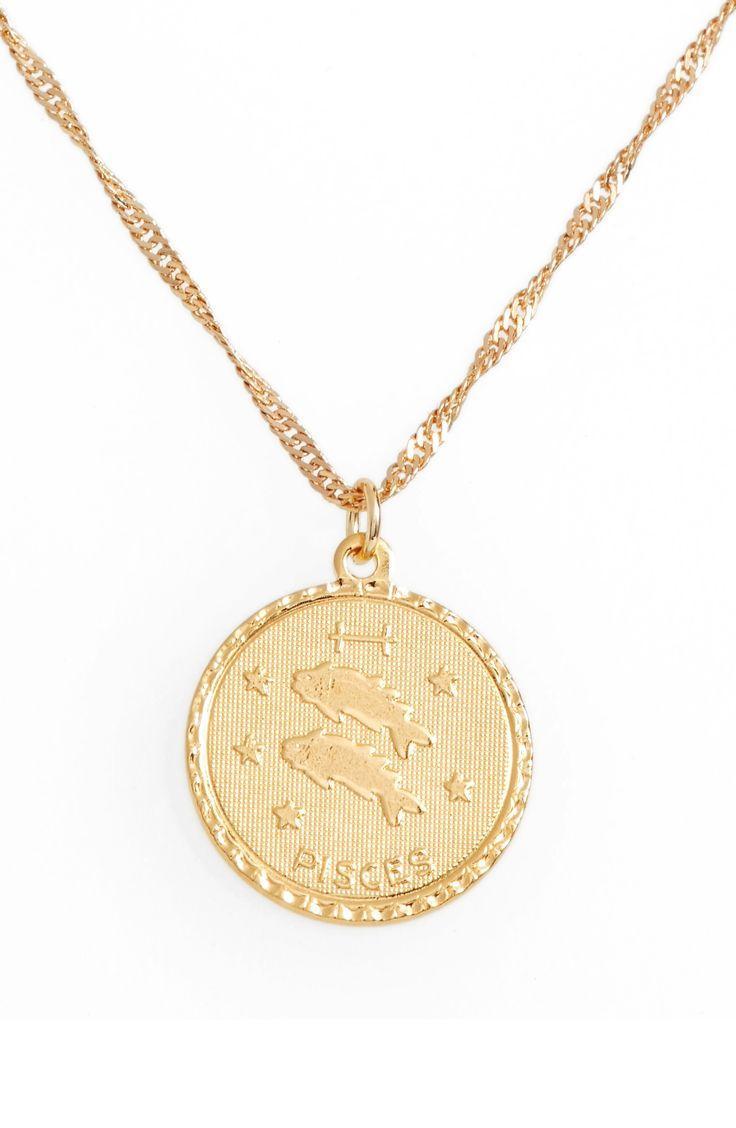 Mariage - Jewelry Ascending Zodiac Medallion Necklace