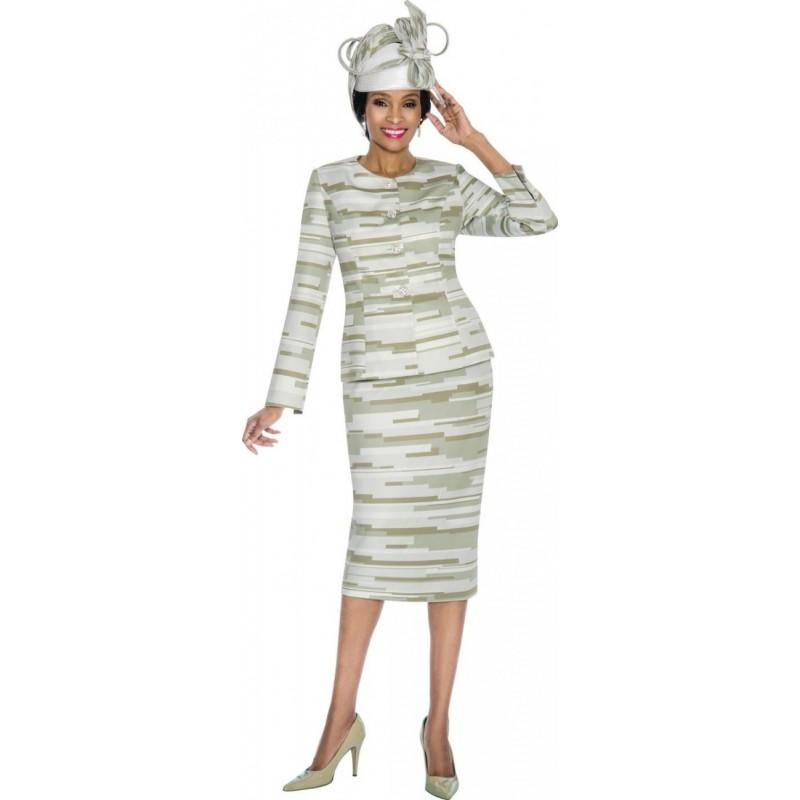 Terramina 7601 Womens Subtle Print Church Suit Brand Prom Dresses