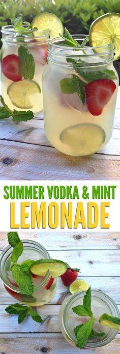 Wedding - Refreshing Summer Vodka Mint Lemonade Cocktail