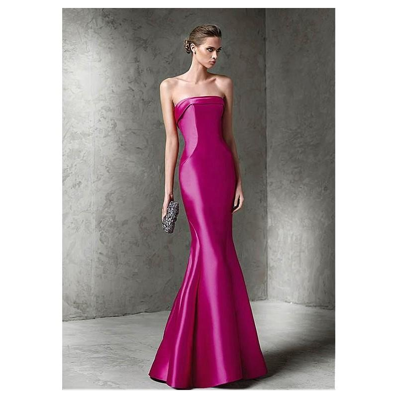 Свадьба - Elegant Satin Strapless Neckless Mermaid Formal Dresses - overpinks.com
