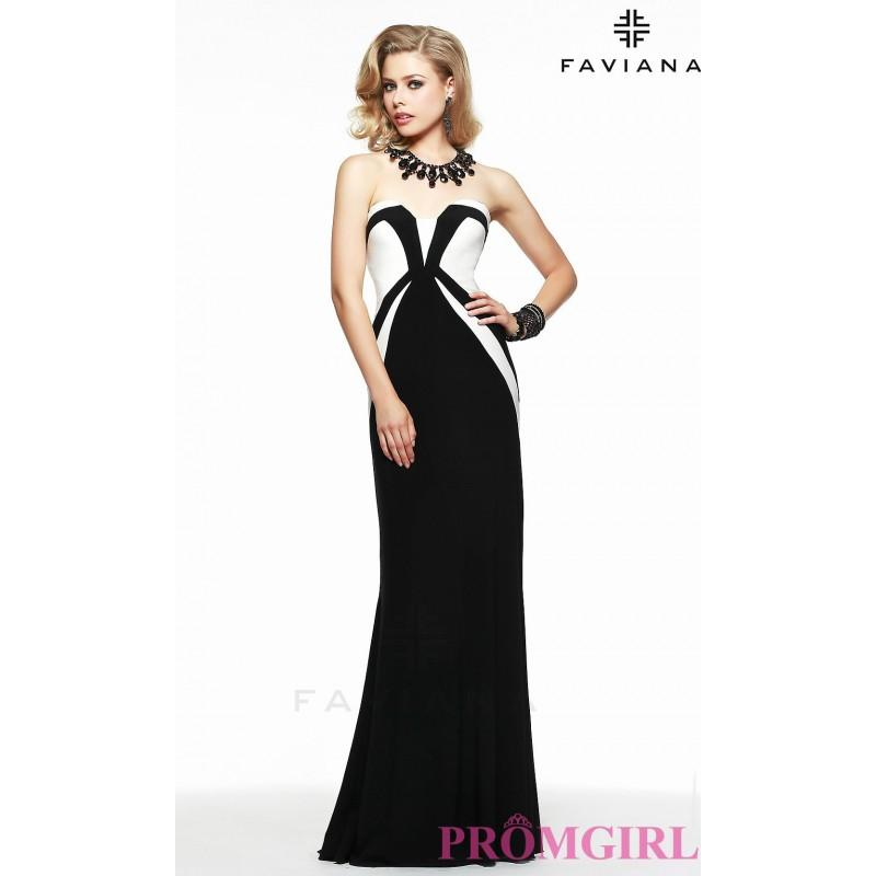 Wedding - Long Strapless Sweetheart Jersey Dress by Faviana - Brand Prom Dresses