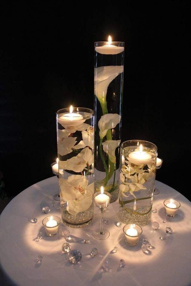 Wedding Decoration Glass Centerpiece Floating Candle Cylinders