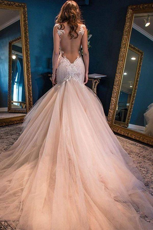 Easy Long Prom Dress 2018 Wedding Dresses Elegant Mermaid Sweetheart ...