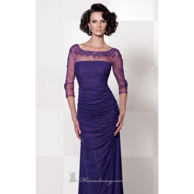 Свадьба - Purple Stretch Mesh Gown by Cameron Blake - Color Your Classy Wardrobe