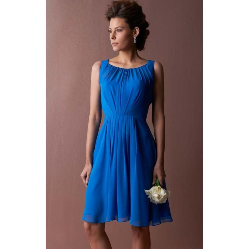 Wedding - Pleated Sleeveless Dress by Landa Designs Bridesmaids LM114 - Bonny Evening Dresses Online