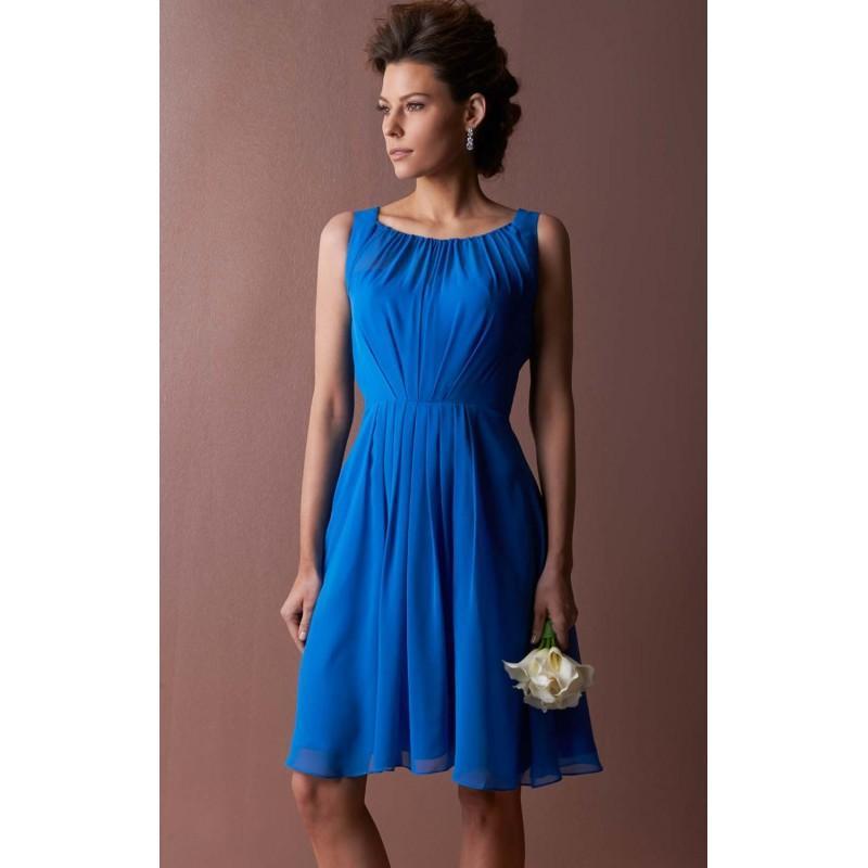 Wedding - Pleated Sleeveless Dress by Landa Designs Bridesmaids LM114 - Bonny Evening Dresses Online
