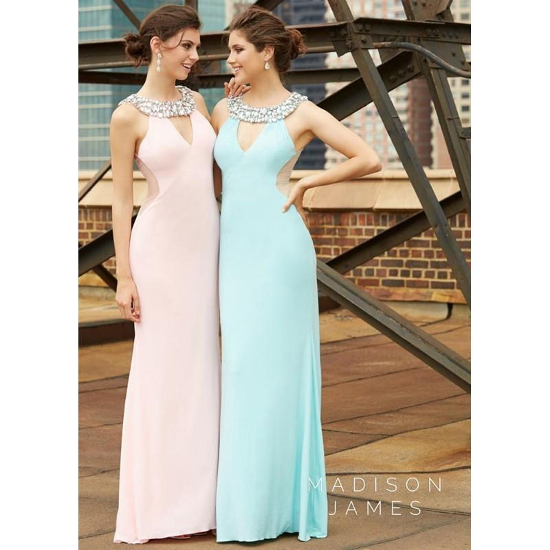 Wedding - Madison James 15-115 Jeweled Jersey Gown - 2018 Spring Trends Dresses