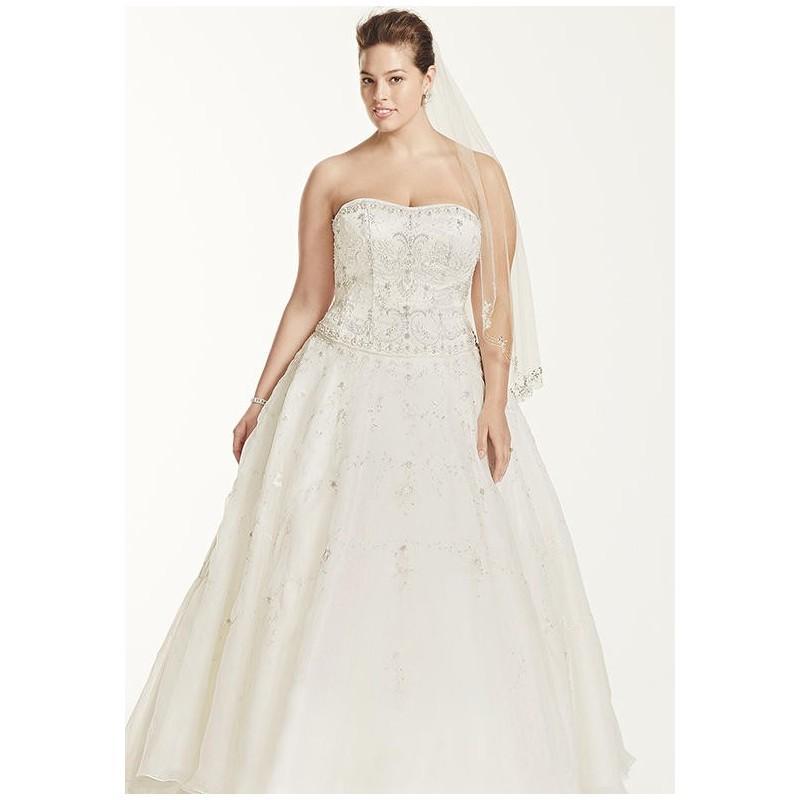 20f3259aa455 Oleg Cassini at David's Bridal Oleg Cassini Style 8CT258 Wedding Dress -  The Knot - Formal Bridesmaid Dresses 2018