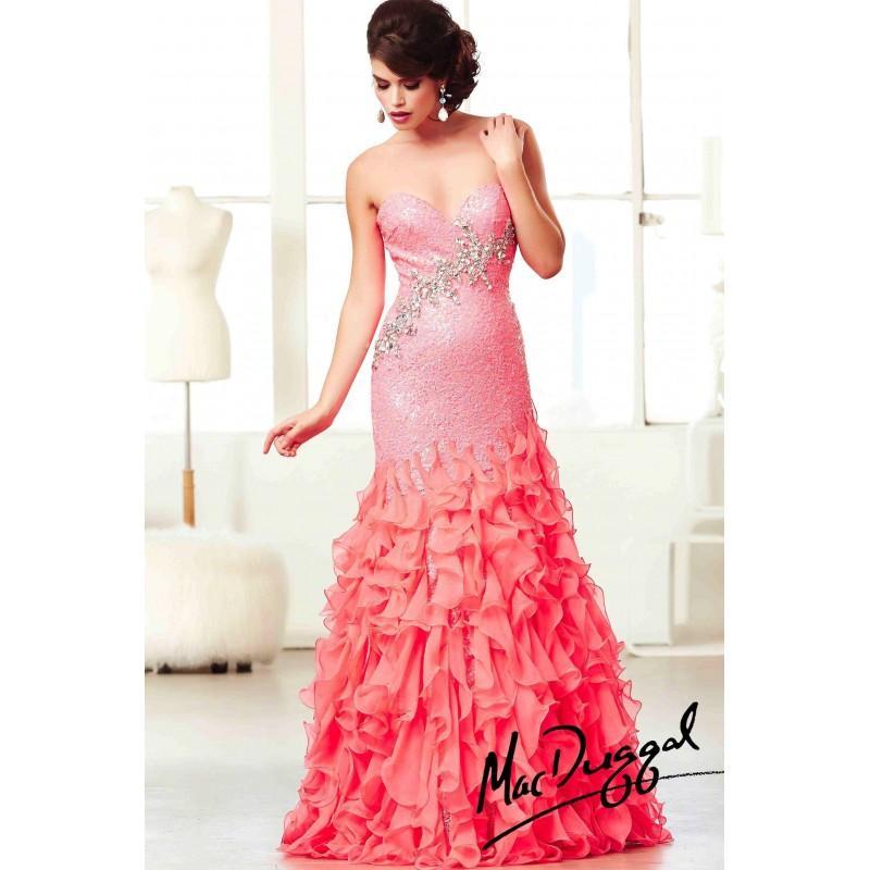 زفاف - Mac Duggal Ruffle Mermaid Prom Dress 64732H - Crazy Sale Bridal Dresses