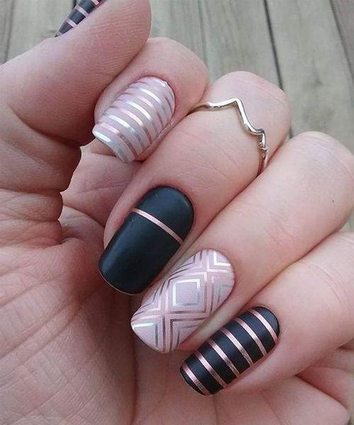 30Pcs/Roll Nail Strips Tape Line Nail Art Design Nail Polish Nail ...