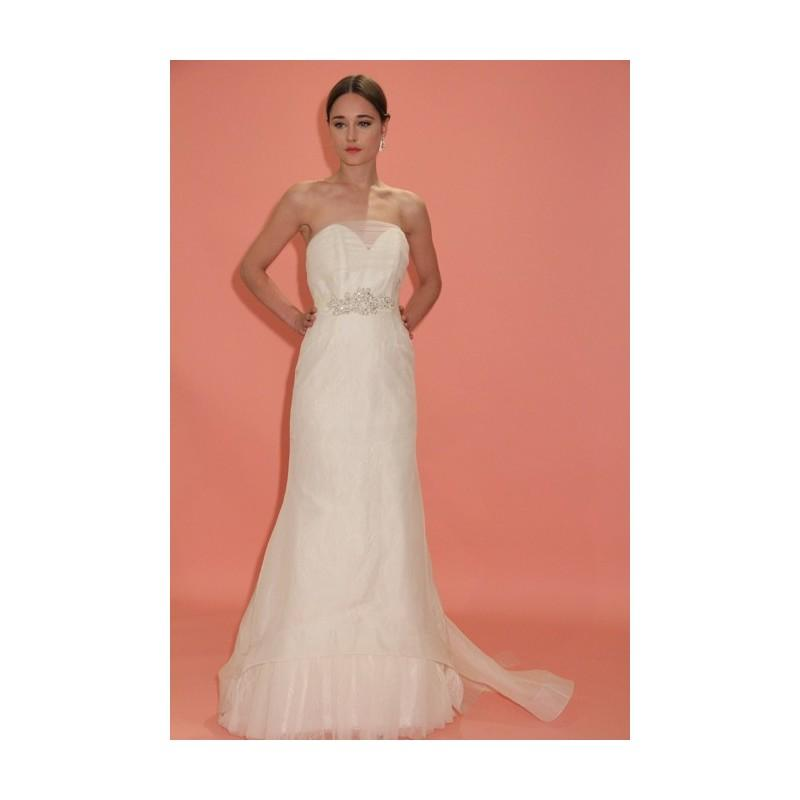 Wedding - Badgley Mischka - Spring 2013 - Louisa Strapless Organza A-Line Wedding Dress with a Sweetheart Neckline - Stunning Cheap Wedding Dresses
