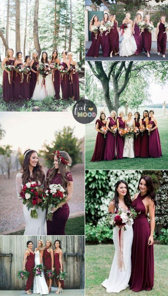 Wedding - Burgundy Bridesmaid Dresses,334