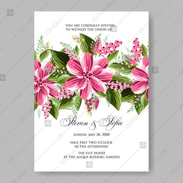 Свадьба - Chrysanthemum vector wreath floral decor for wedding invitation template