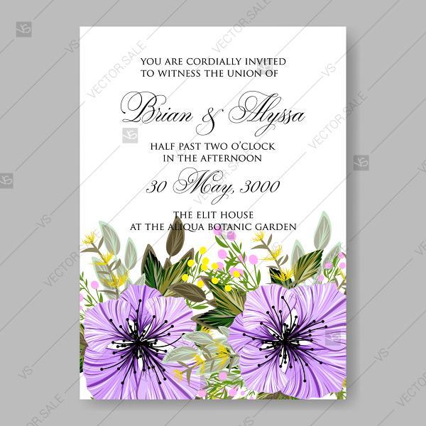 Свадьба - Light purple hibiscus vector tropical floral anniversary wedding invitation decoration bouquet
