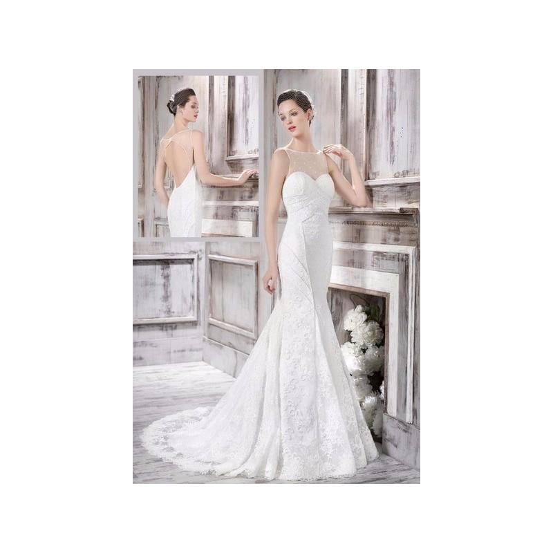 Wedding - Vestido de novia de Manu García Modelo MG0709 - 2016 Sirena Barco Vestido - Tienda nupcial con estilo del cordón