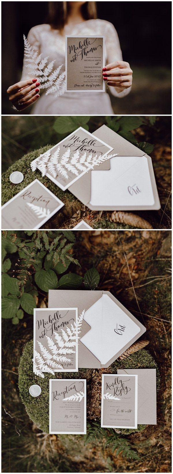 Mariage - Newest 35 Vintage & Botanical Wedding Inviations From 4LOVEPolkaDots