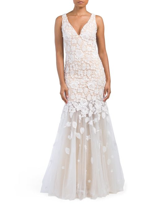 Wedding - Gown With Lace Applique