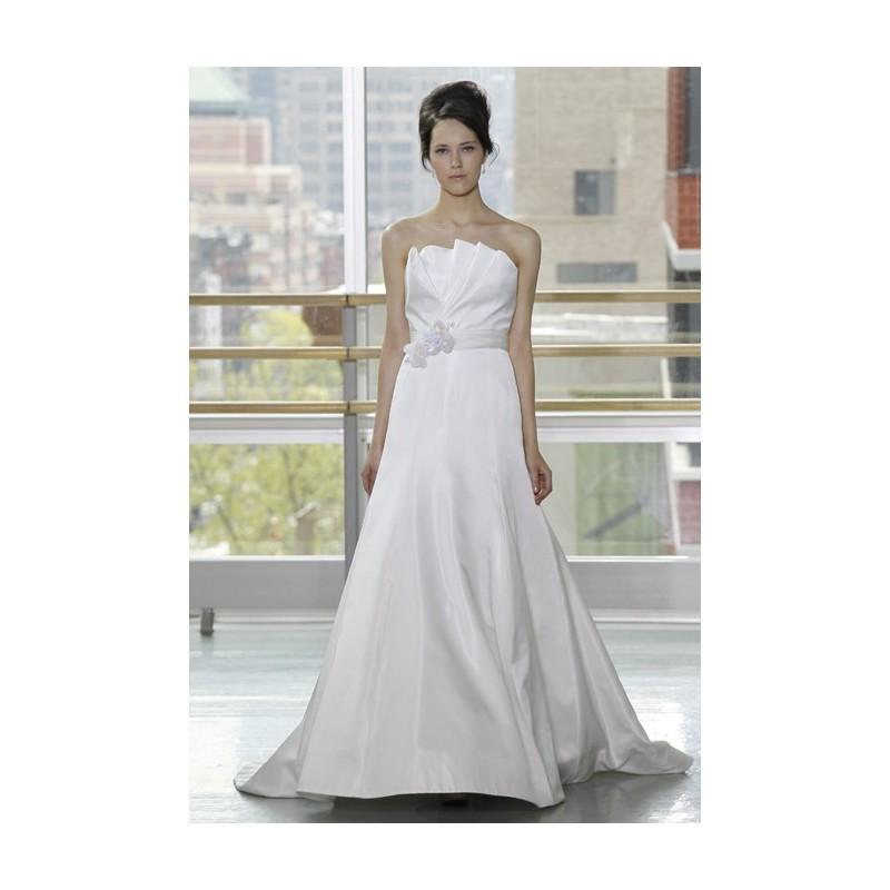 Hochzeit - Rivini - Spring 2013 - Estelle Strapless Silk A-Line Wedding Dress with Pleated Bodice - Stunning Cheap Wedding Dresses