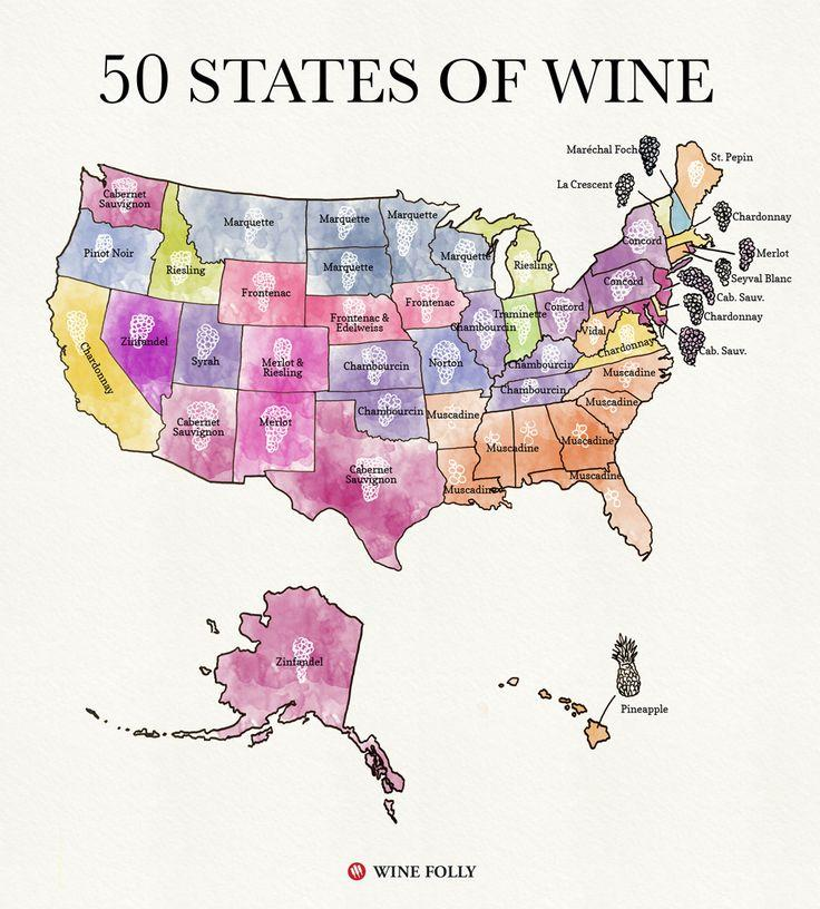 Mariage - 50 States Of Wine (Map