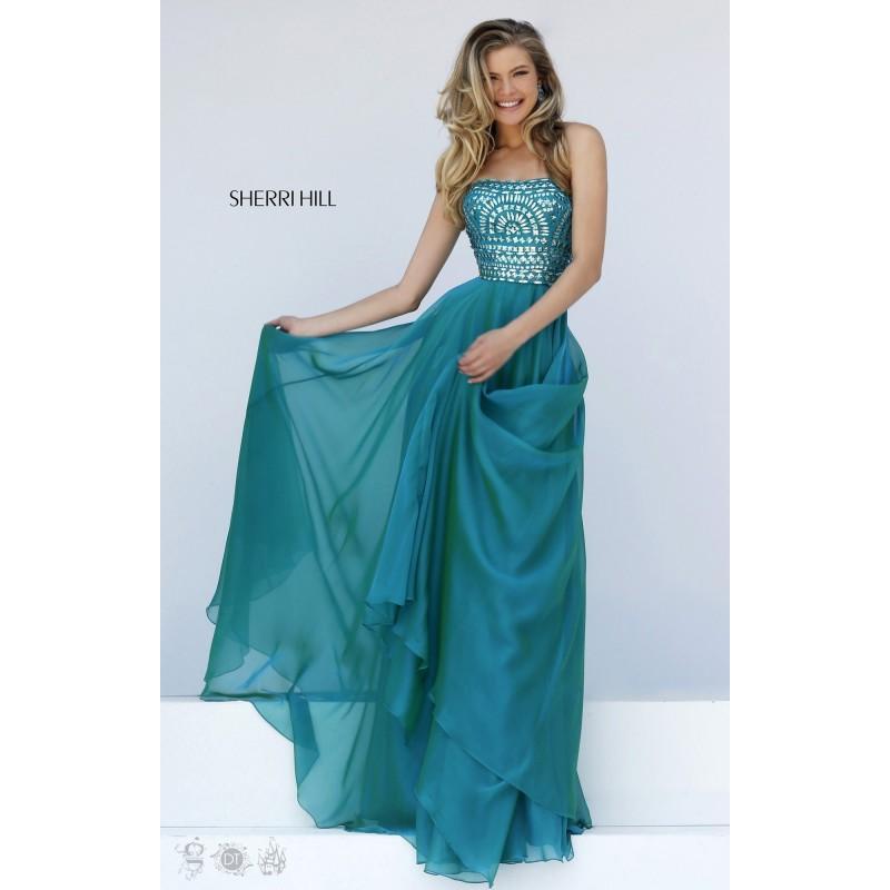 Wedding - Gunmetal Sherri Hill 1984 - Chiffon Dress - Customize Your Prom Dress