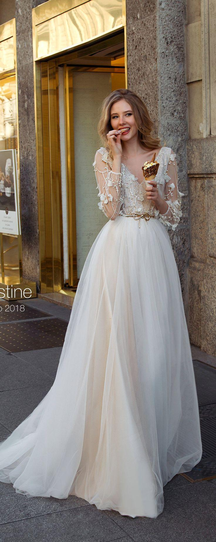 Bohemian Wedding Dress, Wedding Dress, Long Sleeve Wedding Dress ...