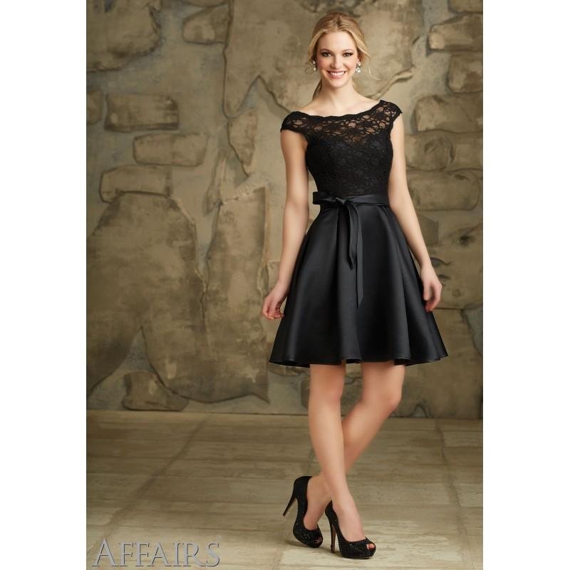 Hochzeit - Mori Lee Bridesmaids 31068 Cap Sleeve Lace and Satin Dress - Crazy Sale Bridal Dresses