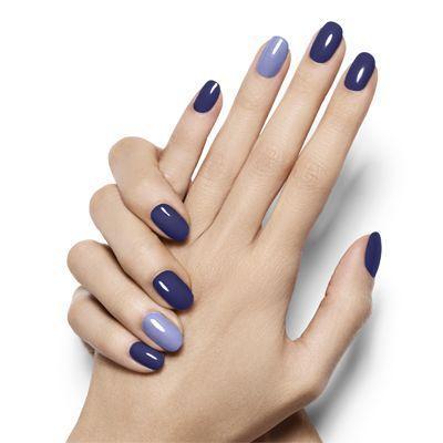 زفاف - Pop Of Blue By Essie - Design A Seductive Deep Violet Nail Look With A Pop Of Opulent Azure That's Anything But Camera Shy.