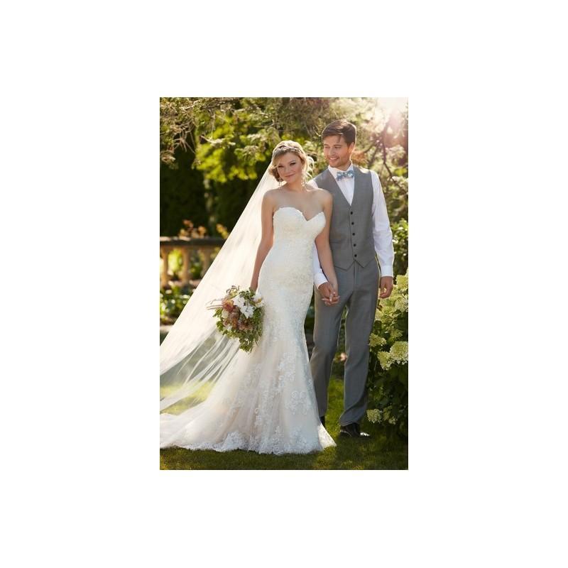 Hochzeit - Essense of Australia Spring 2016 Wedding Dress D1998 - Spring 2016 Fit and Flare Essense of Australia Ivory Full Length Sweethea - Rolierosie One Wedding Store