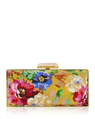 Hochzeit - Judith Leiber Couture Watercolor Crystal Large Rectangle Clutch Bag