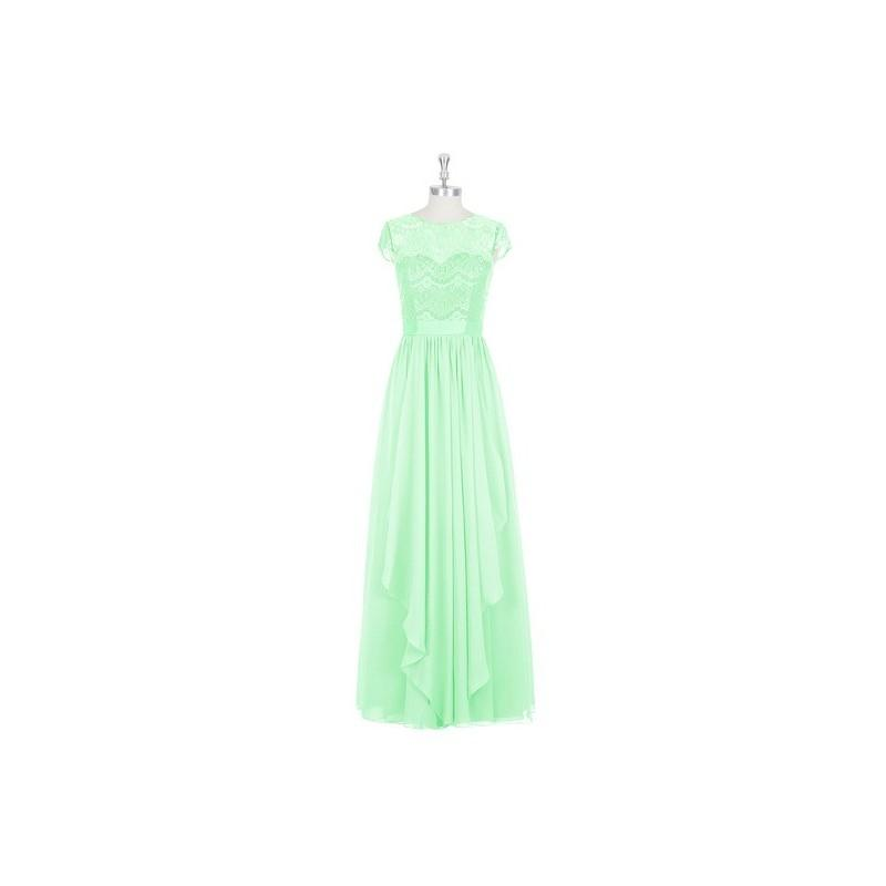 9fb22c29855 Mint green Azazie Beatrice - Illusion Floor Length Chiffon