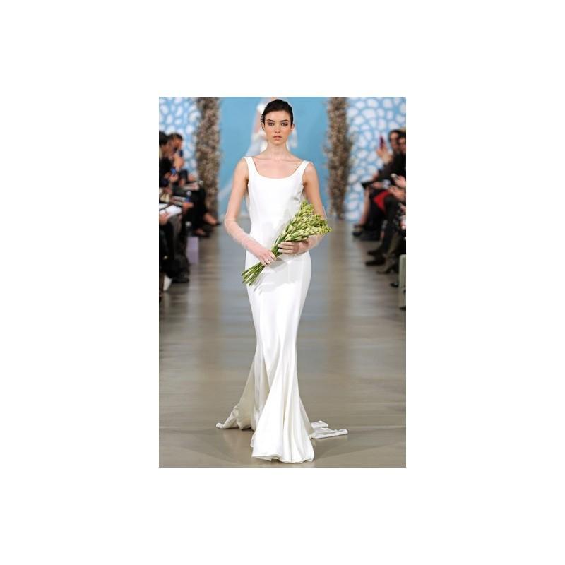 Wedding - Oscar de la Renta SP14 Dress 8 - Oscar de la Renta Ivory Fit and Flare Sleeveless Full Length Spring 2014 - Rolierosie One Wedding Store