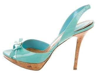 Mariage - Christian Dior Platform Slingback Sandals