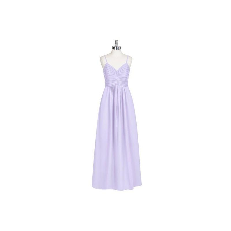 Hochzeit - Lilac Azazie Paola - Floor Length Sweetheart Back Zip Chiffon Dress - Charming Bridesmaids Store