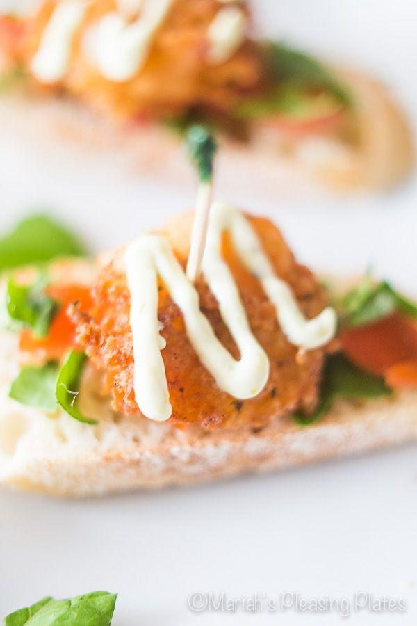 Wedding - Cajun Shrimp Crostinis