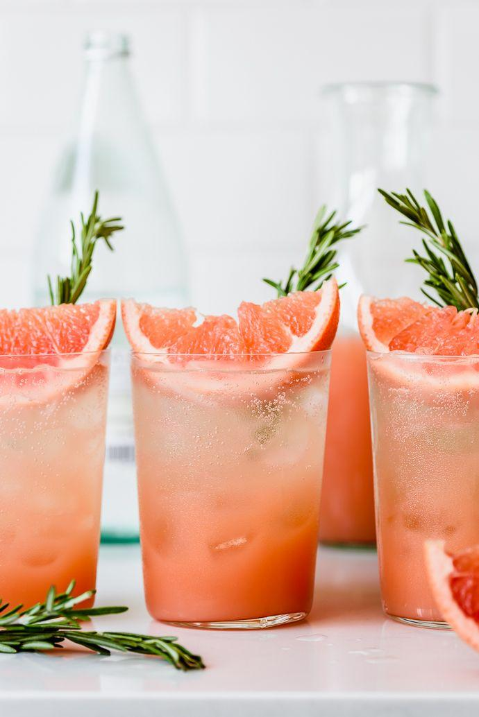 Wedding - Honey Rosemary Grapefruit Sodas
